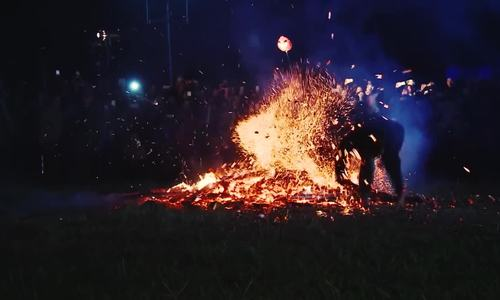 Pa Then's dance of fire: in action