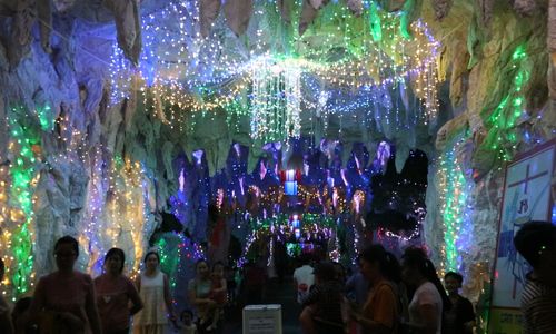 200 meter road gets lit up for Christmas