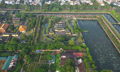 Hue from above: Bird view of Vietnam's former capital Hue under the Nguyen Dynasty