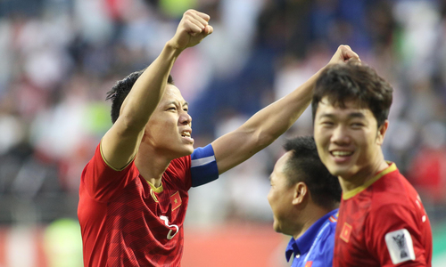 Vietnamese football players celebrate, share thoughts on the nation's victory