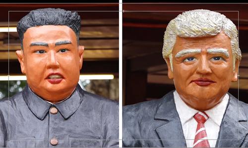 Hanoi restaurant celebrates Trump-Kim meeting with bizarrely unlike statues