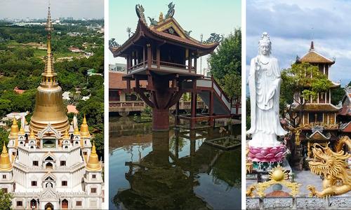 Visit 3 unique temples in and around Saigon