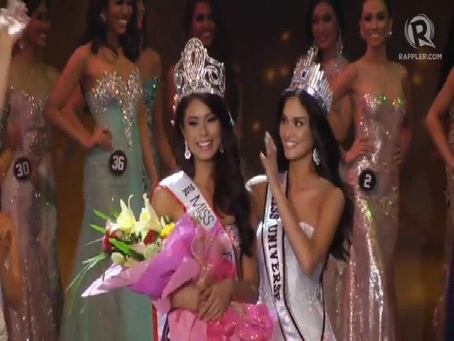 Khoảnh khắc trao vương miện Hoa hậu Hoàn vũ Philippines 2016