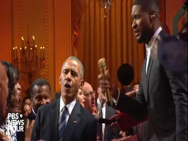 Obama hát cùng Usher