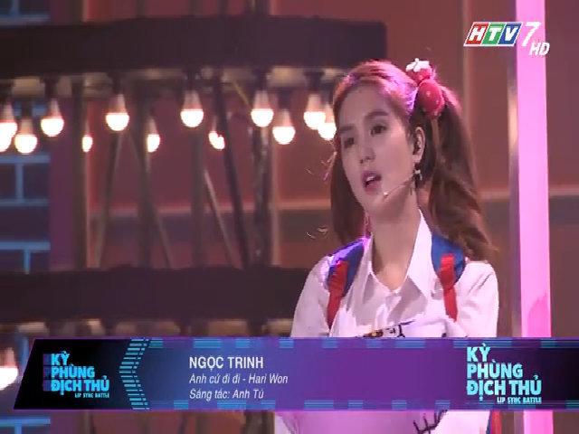 Ngọc Trinh hát nhép 'Anh cứ đi đi' của Hari Won