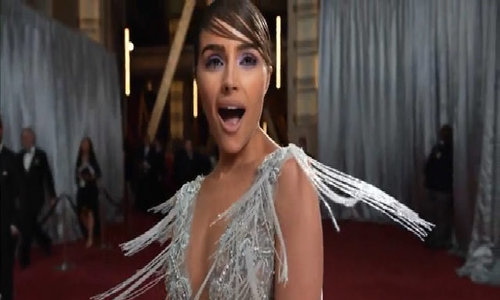 Olivia Culpo ở thảm đỏ Oscar 2017