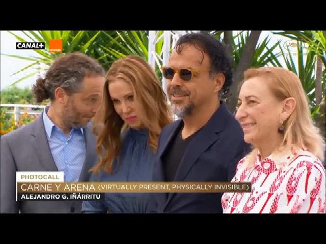Alejandro Iñárritu và đoàn phim 'Carne y Arena' tại Cannes