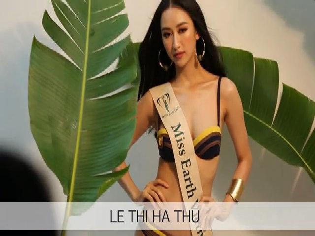 Hà Thu tạo dáng gợi cảm với bikini