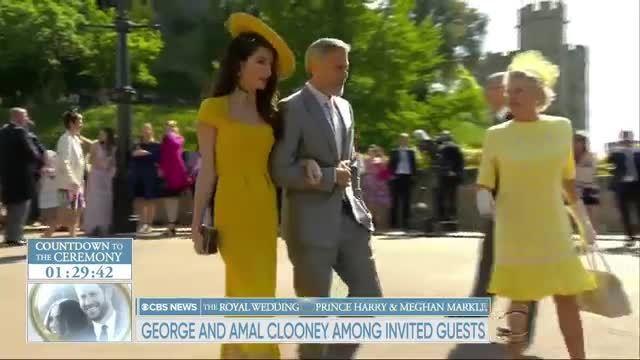 Amal và George Clooney dự đám cưới Hoàng gia Anh