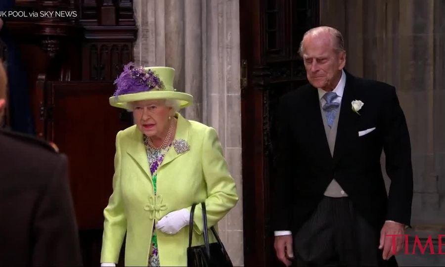 Nữ hoàng Anh trong đám cưới của Meghan
