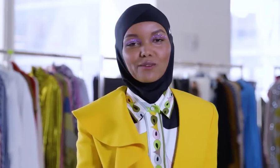 Halima Aden chụp ảnh thời trang