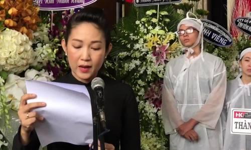 Con trai và NSƯT Thanh Thúy đọc lời tiễn biệt Thanh Hoàng