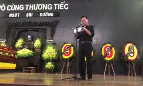 Con re hua hoan thanh tam nguyen cua nghe si Bui Cuong o tang le