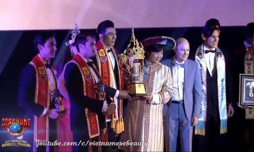 Giải vàng Sieu mãu Viẹt Nam 2015 thi Nam vuong Quoc te