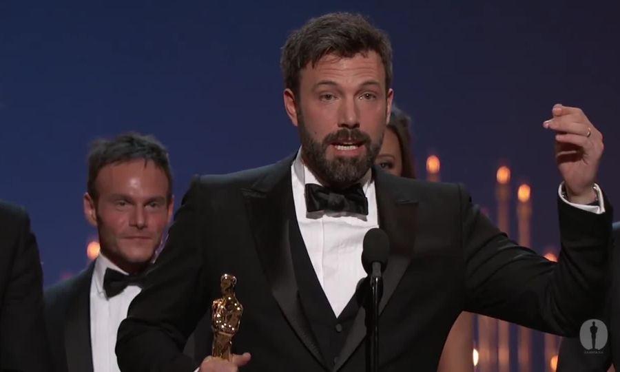 Ben Affleck phát biểu khi nhận Oscar 2013 với Argo