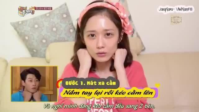 Jang Nara chia sẻ cách massage mặt độc đáo trên truyền hình