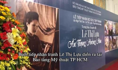 Tac pham cua danh hoa Le Thi Luu lan dau trien lam trong nuoc