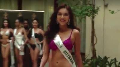 Minh Tú thi bikini ở Miss Supranational