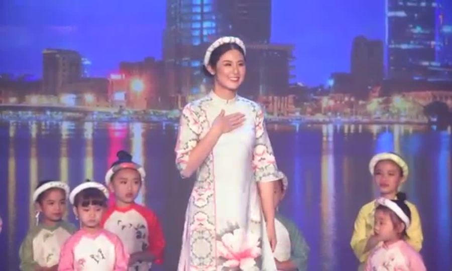 Ngọc Hân ra mắt BST áo dài ở Asian Kids Fashion Week 2018