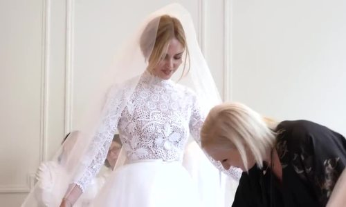 Váy cưới Dior của Chiara Ferragni