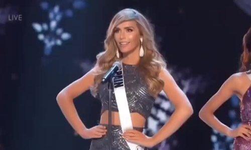 Phần thi của Angela Ponce tại bán kết Miss Universe