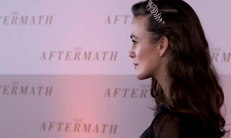 Keira Knightley ở buổi ra mắt phim The Aftermath ở London 2019