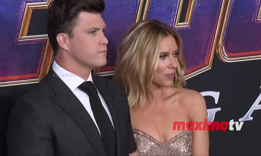 Scarlett Johansson ở buổi ra mắt Avengers: Endgame tại Mỹ