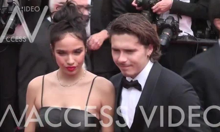 Brooklyn Beckham và bạn gái Hana Cross ở Cannes 2019