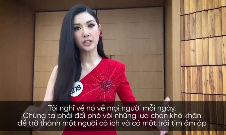 Thúy Vân phỏng vấn tiếng Anh - Hoa hậu Hoàn vũ Việt Nam 2019