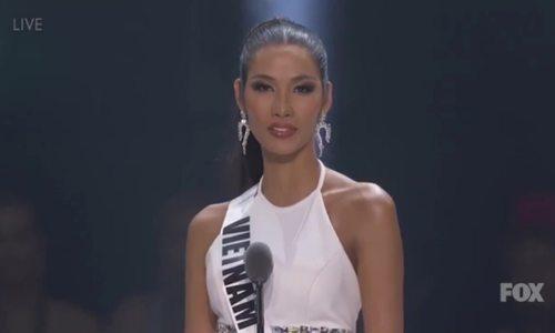 Hoàng Thùy dừng chân ở Top 20 Hoa hậu Hoàn vũ - ảnh 1
