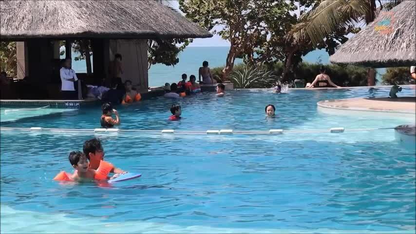 Ku Bi đi bơi cùng bố mẹ
