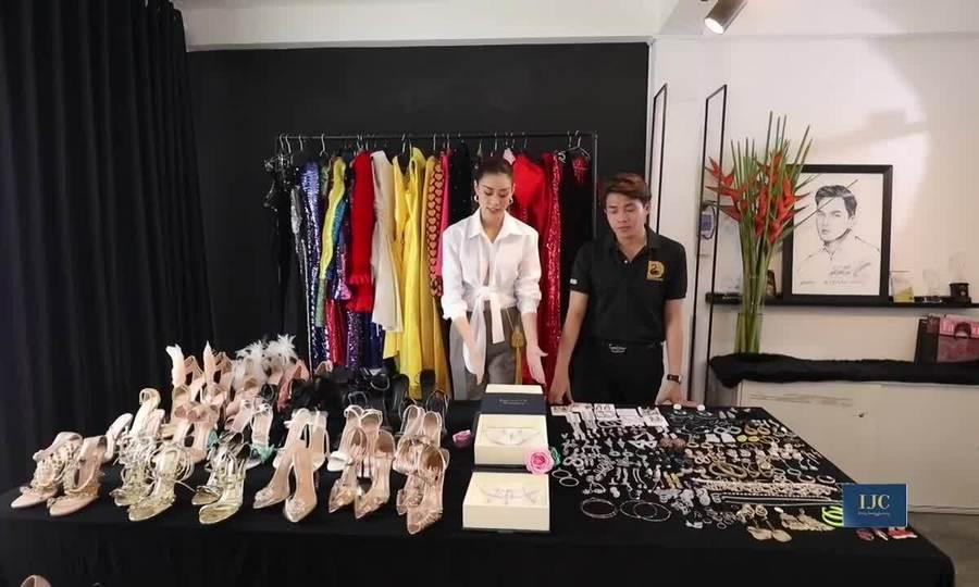 Khánh Vân chuẩn bị trang phục cho Miss Universe