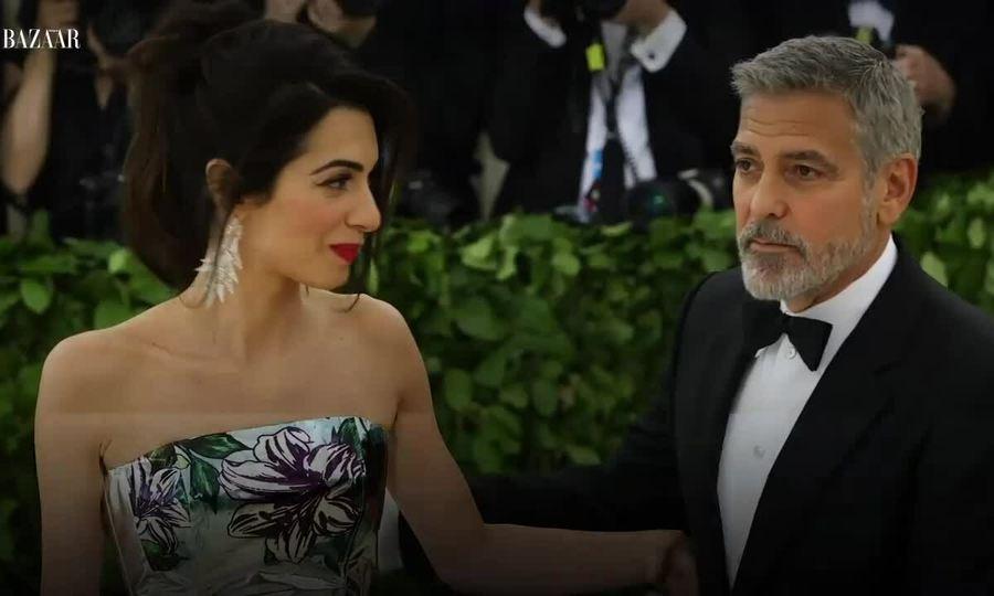 Thời trang thảm đỏ của George Clooney và vợ