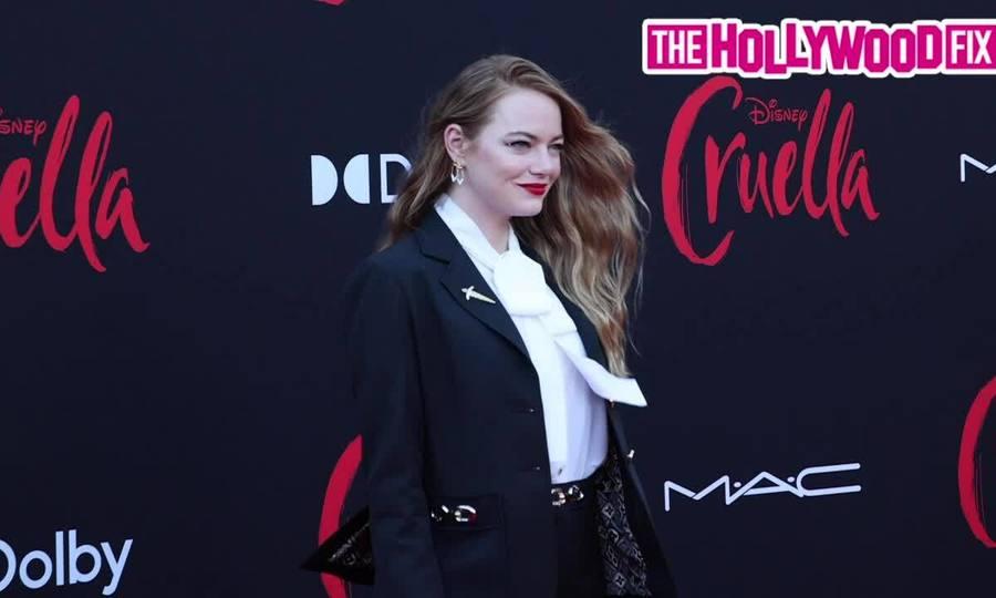 """Emma Stone trên thảm đỏ ra mắt """"Cruella"""""""