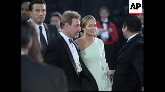 Jennifer Lopez và Ben Affleck ở Oscar 2003