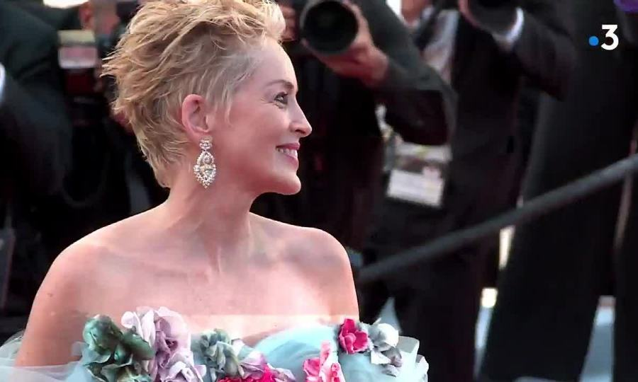 Sharon Stone ở Cannes 2021