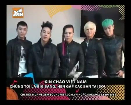 Big Bang chào việt Nam