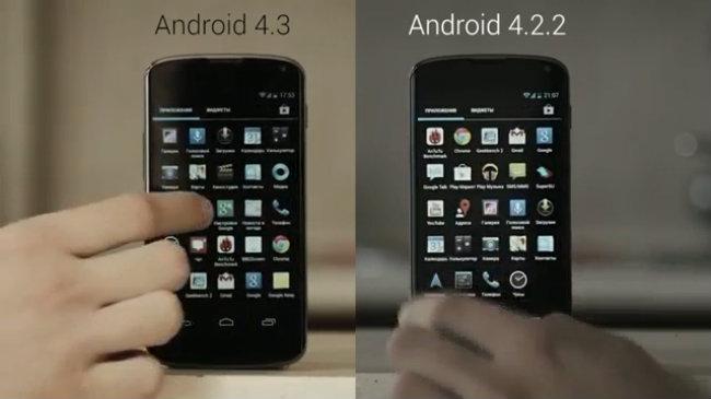 So sánh Android 4.2.2 và 4.3 vừa ra mắt