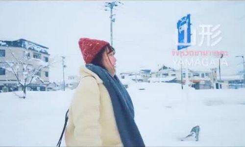 Pose hình với tuyết
