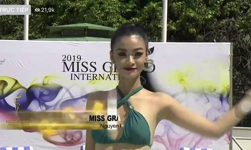 Kiều Loan tự tin diễn bikini ở Miss Grand International
