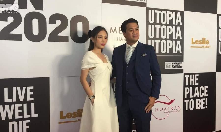 Linh Rin - Phillip Nguyễn tình tứ dự show thời trang