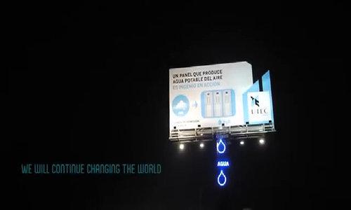 Biển quảng cáo kiêm máy làm nước sạch
