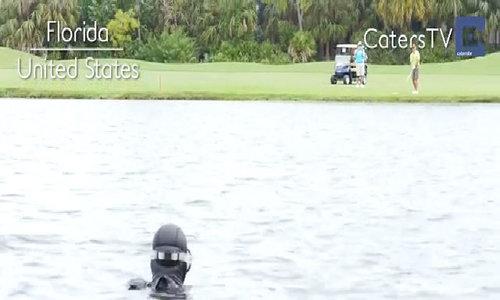 Lặn nhặt bóng golf kiếm triệu USD