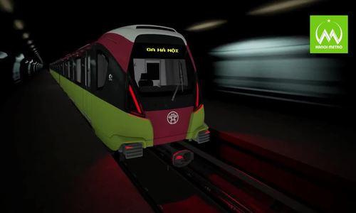 Hà Nội khảo sát ý kiến về kiến trúc đoàn tàu metro tuyến Nhổn - ga Hà Nội