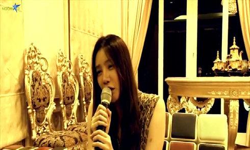 Hồ Quỳnh Hương hát karaoke hit của Duy Mạnh