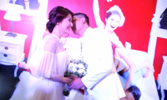 Diễm My - Bình Minh hôn nhau trong 'đám cưới'