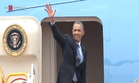Tổng thống Mỹ Obama rời Việt Nam