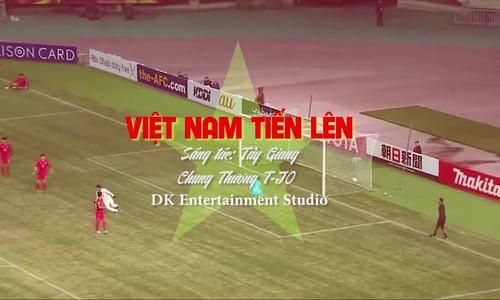 Chung Thương T-Jo thu âm ca khúc 'Việt Nam tiến lên'