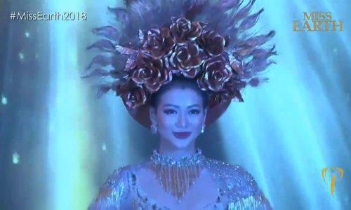 Phương Khánh đoạt giải 'Trang phục dân tộc' khu vực châu Á tại Miss Earth 2018