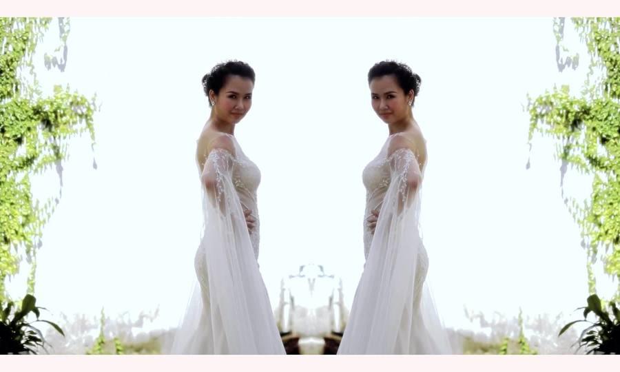 Võ Hạ Trâm thử váy cưới